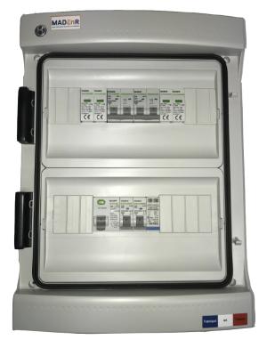 MADEnR - E053-1 - Coffret de protection AC/DC monophasé 0-3kWc