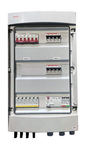 TECHNIDEAL - E055-2 - Coffret de protection AC/DC jusqu'à 9kWc tri